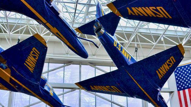 US Navy Planes, National Naval Aviation Museum, Pensacola, Florida
