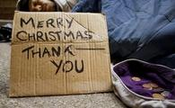 Sleeping on the streets at Christmas time