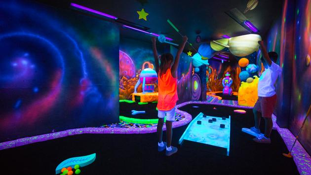 Une des nombreuses salles de jeux pour enfants.
