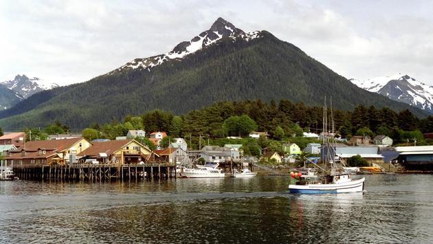 View of the harbor in Sitka, Alaska
