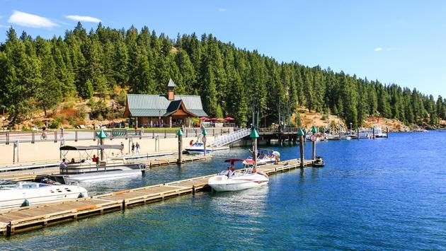Lake Coeur d'Alene on a summer's day in Idaho