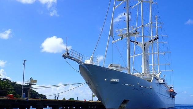 Windstar Cruises' Wind Star in the Caribbean