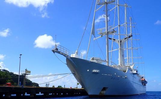Windstar Cruises' Wind Star in the Caribbean