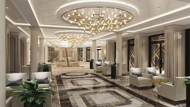 Atrium onboard Seven Seas Splendor