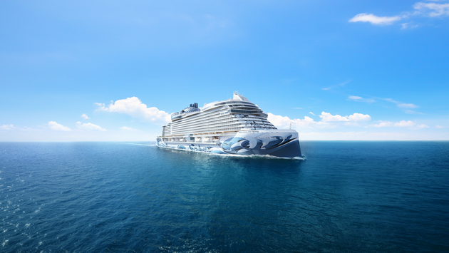 a rendering of the Norwegian Prima, due out in summer 2022.