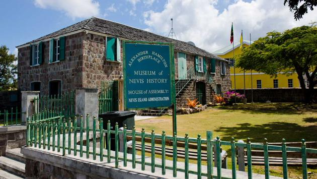 Alexander Hamilton home and museum, Nevis.