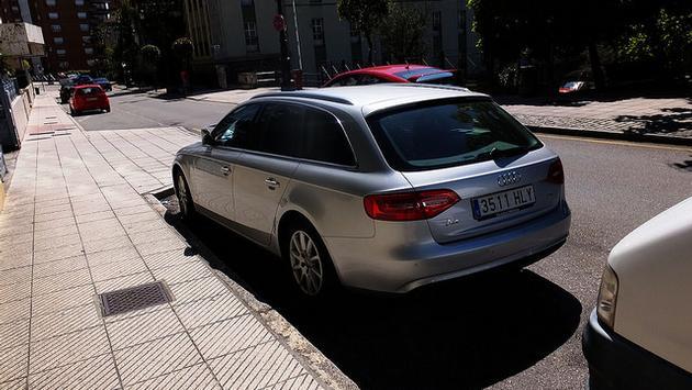 car, rental, silvercar A silver Audi A4
