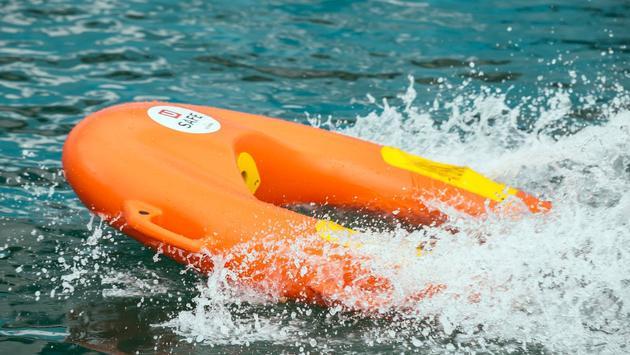 lifeguard, drone, resort