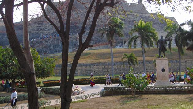 The Castillo de San Felipe de Barajas in Cartagena, Colombia