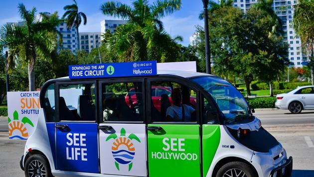 Hollywood Sun Shuttle, electric car, Hollywood Florida