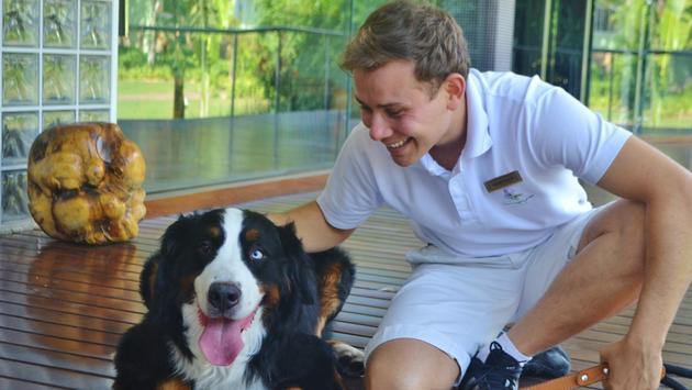 Dog adoption at Unique Garden