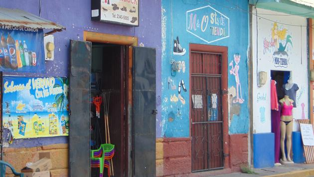 Colorful storefront in Corinto, Nicaragua