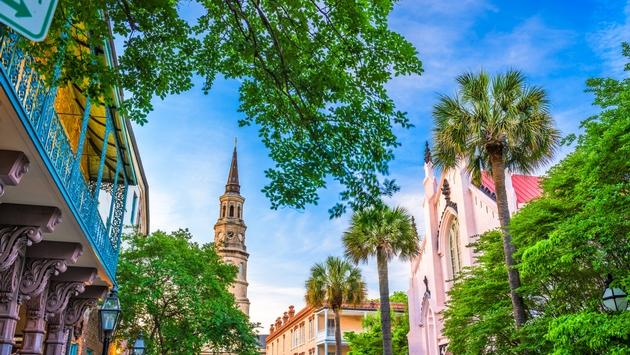 Historic buildings located in the heart of Charleston, South Carolina.