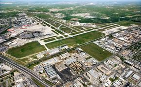 Aerial view of San Antonio International Airport