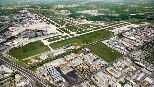 Aerial view of San Antonio International Airport