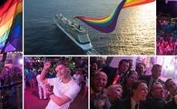 Celebrity Cruises Pride Parade At Sea