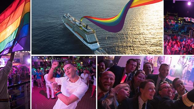 Celebrity Cruises Pride Parade At Sea