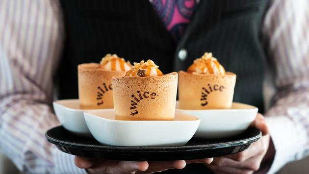 Twiice edible coffee cups served on Air New Zealand
