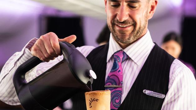 Air New Zealand now serving edible coffee cups