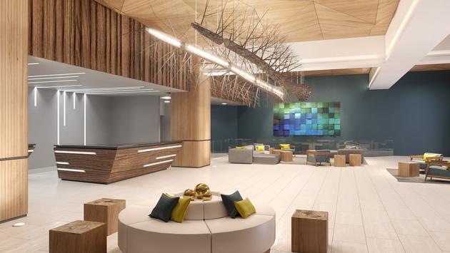 Sonesta Maho lobby rendering