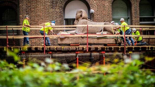 Moving the Sphinx - Penn Museum