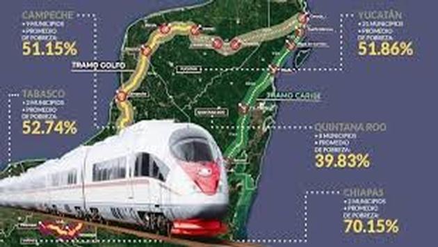 El Tren maya es una de las principales obras de infraestructura del presente sexenio. (Foto de Gob.mx)