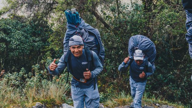 Intrepid porters, Inca Trail, Peru