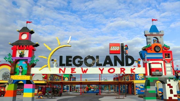 LEGOLAND New York's amusement park entrance.