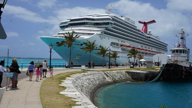 Carnival Sunrise in Bermuda
