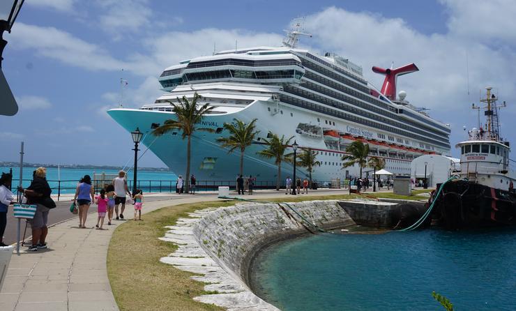 Carnival Sunrise in Bermuda