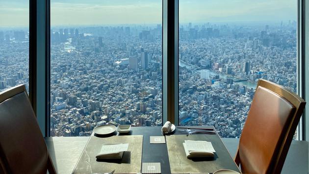 Dining at Skytower.