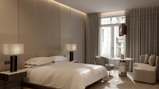 Guestroom design at the upcoming JW Marriott Madrid.