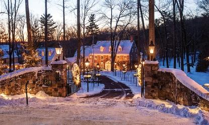 The Inn at Bowman's Hill, winter, New Hope, Pennsylvania, snow, bed and breakfast