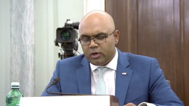 Chirag Shah, American Hotel and Lodging Association, testifying on Capitol Hill.