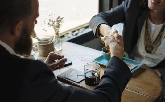 Business, travel agent, handshake