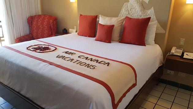 Not every bed at Solmar Resort, an ACV Exclusive, will have the ACV logo in coffee beans and chiles.