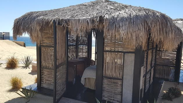 One of the treatment cabanas for Solmar Resort's outdoor spa area.