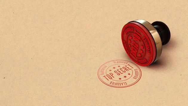 Top secret confidential stamp