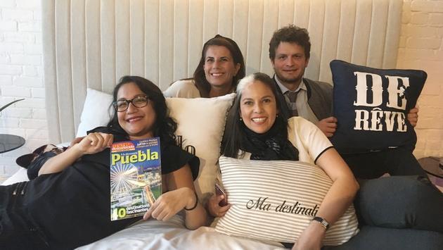 Ibiza Vazquez, Fernanda Rosas, Gabriel Cardona et Lorena Torres du CPTM.