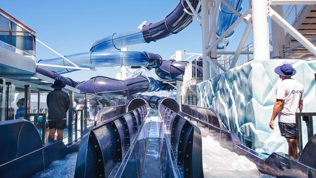 Aqua Park aboard the MSC Meraviglia.