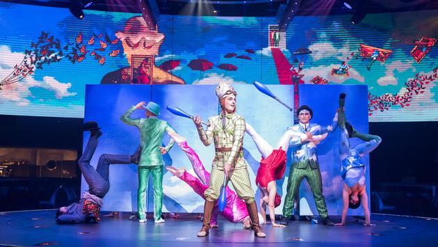 Cirque du Soleil performance aboard the MSC Meraviglia.