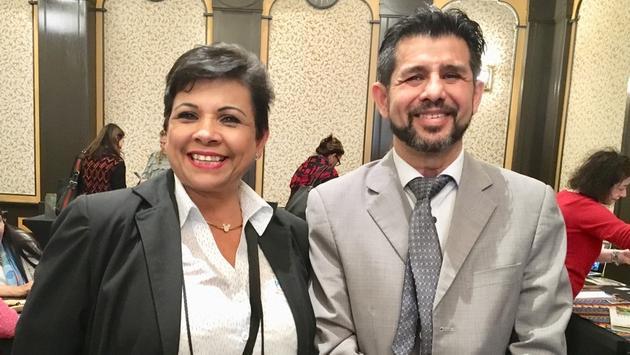 Yvonne Duarte et Freddy Lizano