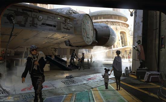Disney Star Wars-Themed Land Artist Concept