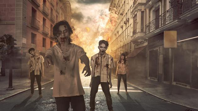 Group of Scary Zombies