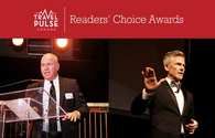 John Kirk and Mark Murphy at TravelPulse Canada's inaugural Readers' Choice Awards.