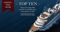 Seabourn's Limited-Time Offer: TOP TEN SALE