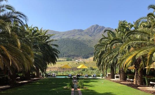 La Residence's mountainous view, Franschhoek, South Africa