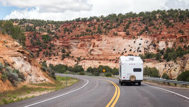 RV en route to Bryce Canyon National Park