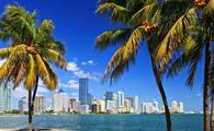 Skyline in Miami, Florida.