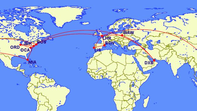Gilbert Ott's Travel Map